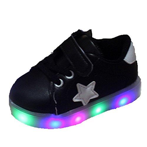 Ohmais Enfants Chaussure Bebe Garcon Fille Premier Pas Chaussure premier pas bébé Sandale Noir