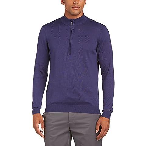 Ashworth Pima Half Zip - Sudadera de golf para hombre, color azul, talla M