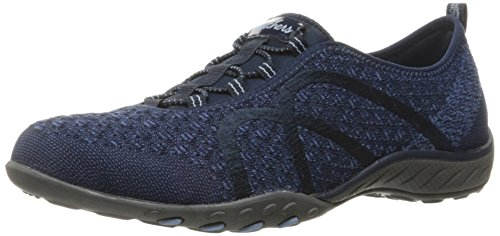 Skechers Fortuneknit Synthétique Baskets Navy