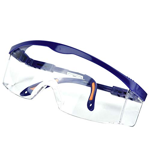Transparente Schutzbrille - Arbeitsschutzbrillen Anti-Fog UV, kratzfest gegen Staub geschützt für Industrie, Sport, Labor