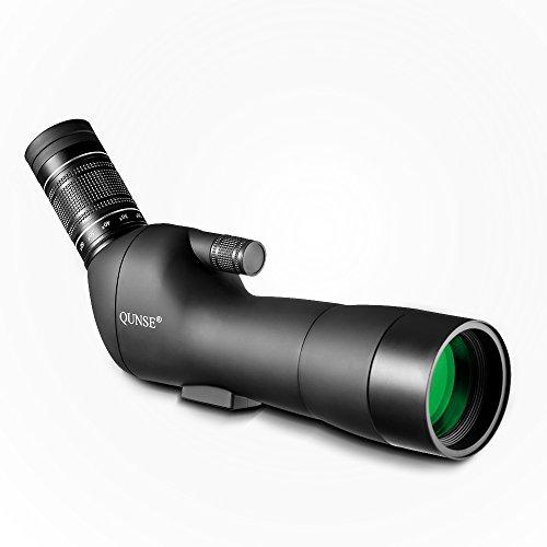 QUNSE Spektiv Vogelbeobachtung, 20-60X60 Riesiges Sehfeld, Optiklinse mit Mehrfachbeschichtung, Geeignet zur Vogelbeobachtung, zur Beobachtung Anderer Tiere und zu den Outdoor, Aktivitäten