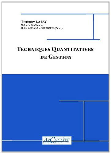 Techniques Quantitatives de Gestion L3