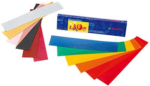 Stockmar Wachsfolien 20 x 4 cm - 12 Farben sortiert