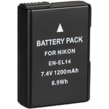 BPS EN-EL14 EN-EL14a Batterie de Remplacement, Batterie Rechargeable pour Nikon D3100 D3200 D3300 D5100 D5200 D5300 D5500 DSLR Camera, Coolpix P7000 P7100 P7700 P7800 & Battery Grip BG-2G & Battery Charger MH-24