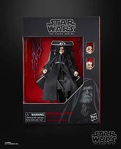 STAR WARS- The Black Series, Figura de acción del Emperador Palpatine con Trono, (Hasbro E6125EU4)