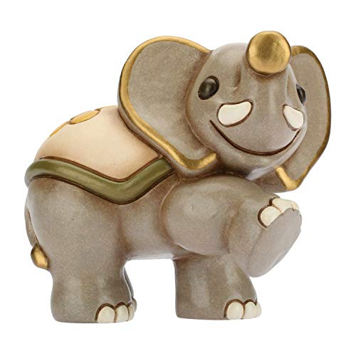 Thun - elefante in cammino piccolo - animali da soprammobile da collezione - ceramica - i classici