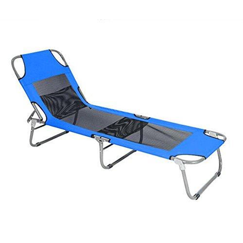 YAXIAO-Klappstuhl Balkon Im Freien Klappbett Einzelbett Büro Nickerchen Bett Sommer Lounge Stuhl Mittagspause Stuhl (Color : 1)