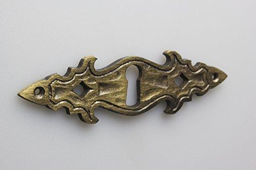 10 piezas escudo escudo de llave, escudo de mueble, bocallave metal alta calidad bruñido refinado