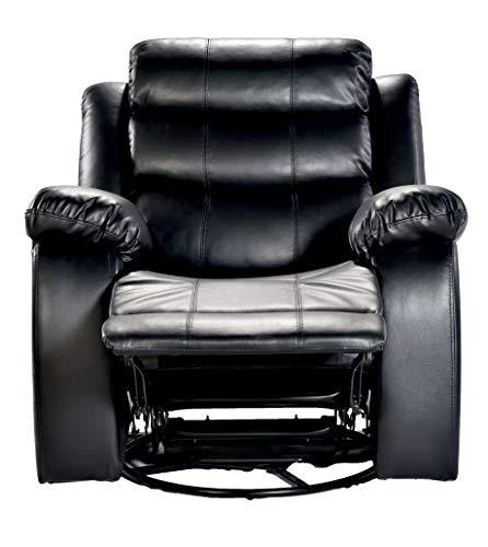 DeckUp Venetian Single Seat Recliner with Swivel and Rocker (Black)