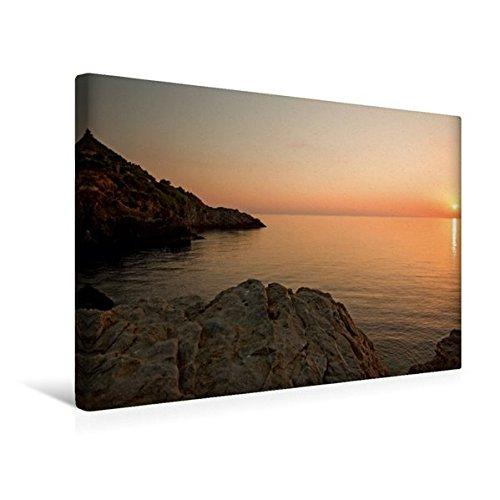 Premium Textil-Leinwand 45 cm x 30 cm quer, Sonnenuntergang Banyalbufar | Wandbild, Bild auf Keilrahmen, Fertigbild auf echter Leinwand, Leinwanddruck: Mallorca (CALVENDO Orte)