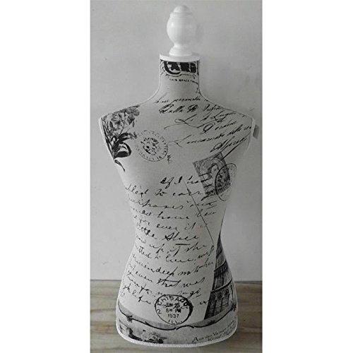 buste-decoratif-carte-postale-168x375-cm-noir-et-blanc