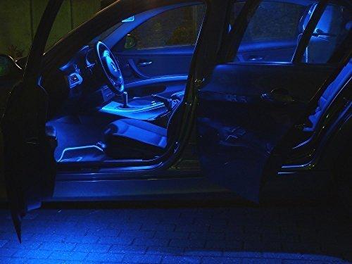 Preisvergleich Produktbild 7x LED blau Innenraum Beleuchtung Opel Astra J OPC Set Lampen Licht