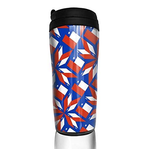 KERYNP Kaffeebecher Thermobecher mit Schraubdeckel,Travel Coffee Mug Chile Flag Artascope Flower Water Bottle Environmental Protection Material ABS 12 Oz Spill Proof Flip Lid