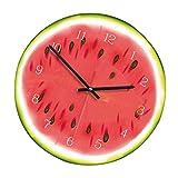 Cdrox Frutas de marcación de acrílico del Reloj de Pared para no Hacer tictac del Reloj salón Cocina habitación decoración de la Oficina