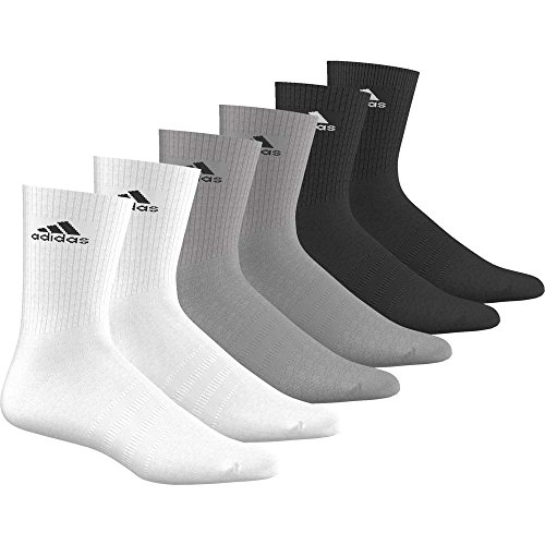 adidas Sportsocken 3S Performance Crew Black/medium Grey Heather/White 27-30
