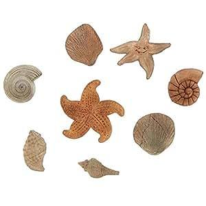 Alphabet Moulds Moule en silicone pour décoration en relief de gâteau Motif coquillage/étoile de mer