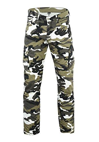 Motorrad grau camo Cargo Jeans mit DuPontTM Kevlar® Aramid Faser abnehmbarer Armour, Herren, grau