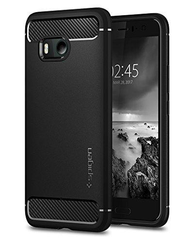 Spigen HTC U 11 Case Rugged Armor - Cover Nero custodia per cellulare
