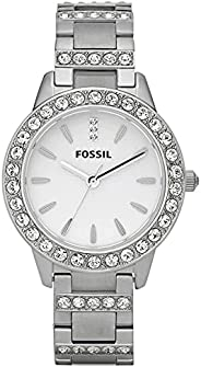 Fossil Women's Jesse Stainless Steel Crystal-Accented Dress Quartz W