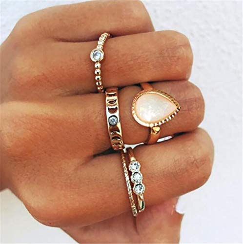 Madlst Fingerringe/Fingerringe, Punk-Ring, Kristall, Gelenk, Fingerknöchel, 5 Stück (Zu Halloween-ideen Hause Zu Niedliche Machen)