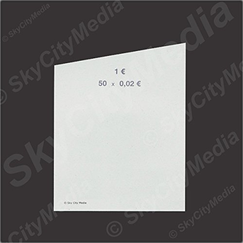 Münzrollpapier für Euro Münzen je 50x ( 0,02 € Papier) für Geldrollen / Rollgeld Münzrollenpapier / Handrollpapier / NEU