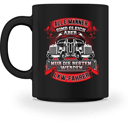 n Männer - Geschenk für Trucker Fernfahrer Brummi Berufskraftfahrer LKW Lastwagenfahrer - Tasse -M-Schwarz ()