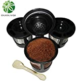 KITCHY Duolvqi 3pcs/lot Coffee Pod Filters Suitable for Keurig K Cup Coffee System