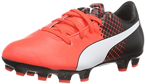 Puma Evopower 3.3 Tricks AG Jr, Chaussures de Football Compétition Mixte Enfant, Rot, 37 EU