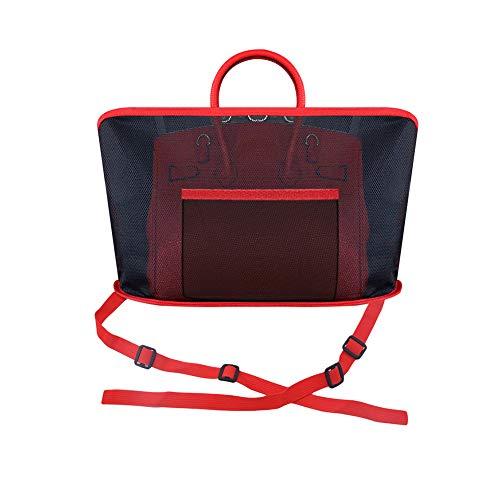 FeiyanfyQ Universal Auto Zwischen Sitz Aufbewahrung Netz Hängetaschen-Halter Taschen-Organizer - Rot rot