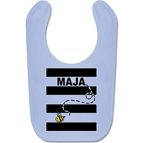 Shirtracer Karneval und Fasching Baby - Bienen Kostüm Maja - Unisize - Babyblau - BZ12 - Baby Lätzchen Baumwolle