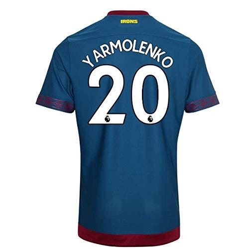 2018-2019 West Ham Away Football Soccer T-Shirt Camiseta (Andriy Yarmolenko 20)