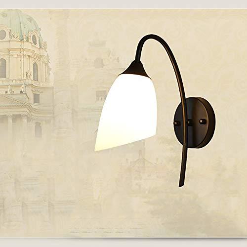 ZJING Lámpara de Pared Oblicua Simple, Pantalla de Vidrio de una Sola Cabeza, Adecuada para Decorar dormitorios, Balcones, restaurantes, hoteles, pasillos (sin Fuente de luz)