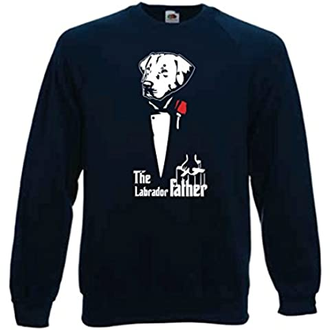 Sudadera de manga azul The Labrador father, perros, tributo padrino humor, divertido S, M, L XL Camiseta by tshirteria XXL blu-scuro Talla:L