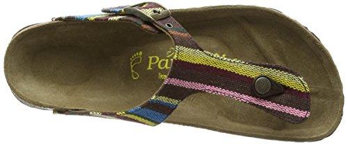 Birkenstock - Gizeh Textil/leder, Sandali infradito Donna Multicolore (Mehrfarbig (Bohemian Stripes Brown))