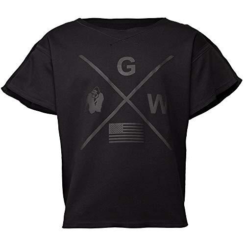 GORILLA WEAR Bodybuilding T-Shirt - Old School Work Out Top Herren - Sheldon Rag Top Black L/XL