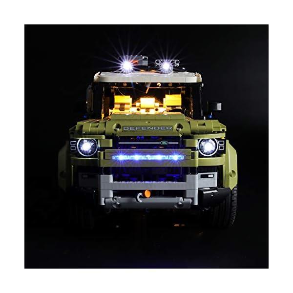 LIGHTAILING Set di Luci per (Technic Land Rover Defender) Modello da Costruire - Kit Luce LED Compatibile con Lego 42110… 2 spesavip