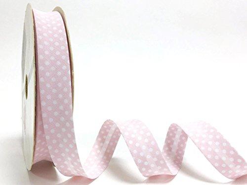 Color de lunares de color rosa 18 mm de satén de Fany en relieve de mujer con 3 m de longitud (N.B, se trata de un corte de rollo de)