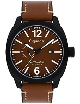 Gigandet G16–001Armbanduhr für Männer, Lederband braun