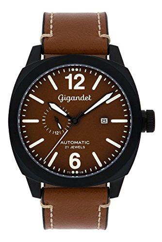 Gigandet Red Baron III Automatic Men's Aviator Watch Analogue Wrist Watch Brown Black G16-001