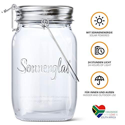 SONNENGLAS Solarleuchte, Glas, Transparent, Classic (1000ml) -