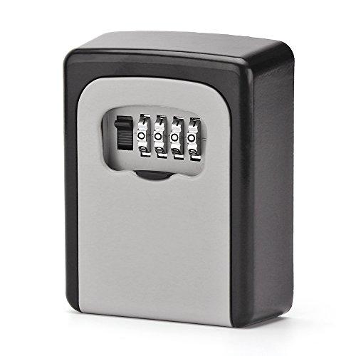 ONEVER Llave Segura Caja de Bloqueo de Teclas Llave de Combinación de 4 Dígitos Montada en la Pared...