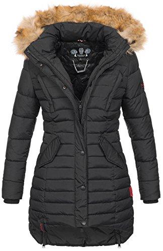 Navahoo Damen Winter Jacke Steppjacke Mantel Parka warm gefüttert gesteppt B640 3