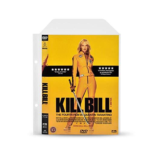 3L DVD Hüllen mit Ringbuch Löcher zur DVD-Filme Aufbewahrung - 100 Stück - Praktisch für DVD Ordner - mit Platz für DVD Cover - 10282