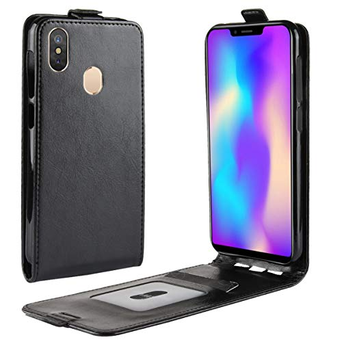HualuBro Leagoo S9 Hülle, Premium PU Leder Leather HandyHülle Tasche Schutzhülle Flip Case Cover für Leagoo S9 Smartphone (Schwarz)