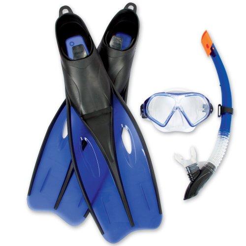 Schnorchelset Tauchermaske Taucherbrille Taucherflossen Schwimm Flossen Größe 40 41 42