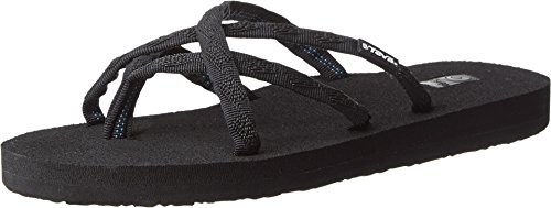 Flip-sandalen (Teva Olowahu W's Damen Sport- & Outdoor Sandalen, Schwarz (mix B on Black 536), EU 40)