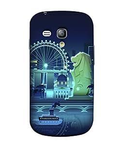 PrintVisa Designer Back Case Cover for Samsung Galaxy S3 Mini I8190 :: Samsung I8190 Galaxy S Iii Mini :: Samsung I8190N Galaxy S Iii Mini (Tourist Destination Tiger Statue)