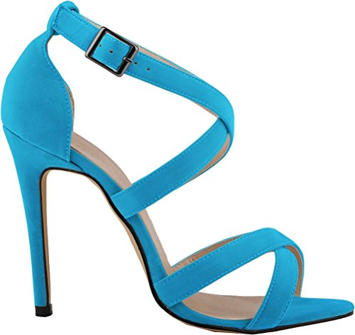 CFP , Peep-Toe femme bleu clair