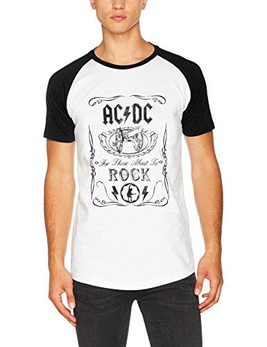 Rockoff Trade Acdc Canon Swig Vintage Short Sleeve Raglan, Camiseta para Hombre, Negro, Large