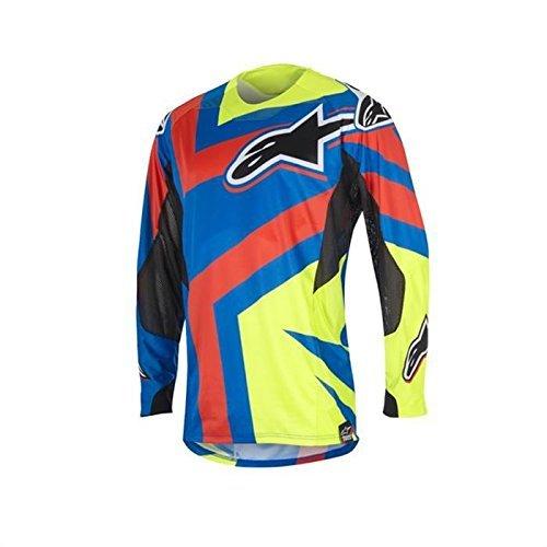 Alpinestars Techstar Factory Motocross Jersey S Blau/Gelb/Rot